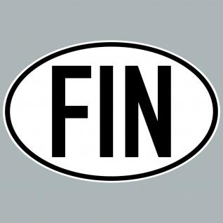 FIN Aufkleber Sticker Finnland Länderkennung Länderkennzeichen 4061963084106