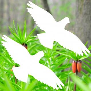 Warnvögel 25cm weiß Habicht Vögel Warnvogel Aufkleber Vogel Glas Fenster Schutz