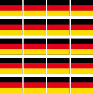 20 Aufkleber 2cm Deutschland BRD Ministicker Länder Flagge Fahne 4061963008911