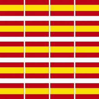 100 Aufkleber 3, 2cm Sticker Länder Fahne Flagge Spanien RC Modell Modellbau Deko