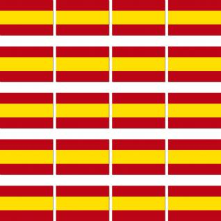 20 Aufkleber 2cm Spanien ESP Länder Fahne Flagge RC Modellbau Deko Mini Sticker