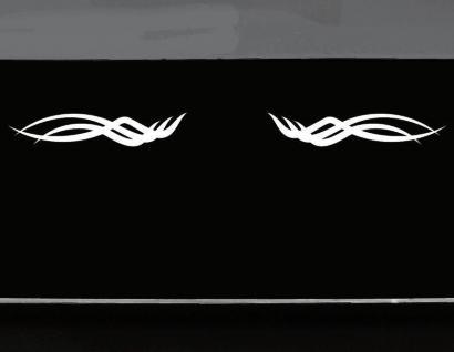 Aufkleber Tattoo Tribal 45cm weiß Arschgeweih Auto Motorrad Racing Deko Folie