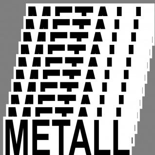 Aufkleber Metall 20cm Sticker Hinweis Alt Müll Trennung DIN ISO Eimer Kontainer