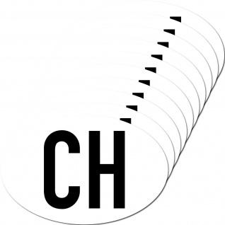10 Aufkleber CH Sticker Schweiz Länderkennung Länderkennzeichen 4061963019788