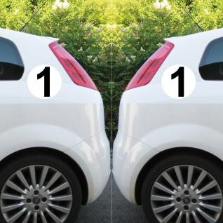 4 Aufkleber 15cm Start Nummer 1 Ziffer Zahl Auto Rennsport Racing Kart Gokart - Vorschau 4