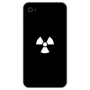 8 Aufkleber Tattoo 2, 5cm weiß Radioaktiv Symbol Logo Handy smartphone Deko Folie
