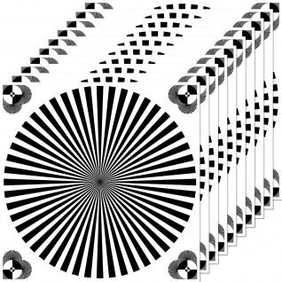 10 Aufkleber 10cm Sticker Siemensstern Fokus focus test chart Objektiv Body DSLR