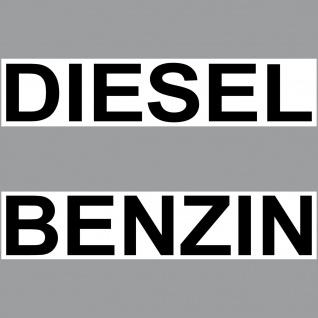Set Aufkleber Diesel + Benzin 20cm Sticker Tank Kanister Kraftstoff Auto Schild