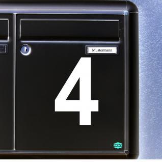 1 Stück 10cm weiß Wunschziffer Aufkleber Tattoo Hausnummer Zahl Nummer Ziffer - Vorschau 1