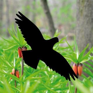5 Aufkleber Tattoo 20cm Vogel schwarz Deko Fenster Scheiben Schutz Warn Folie