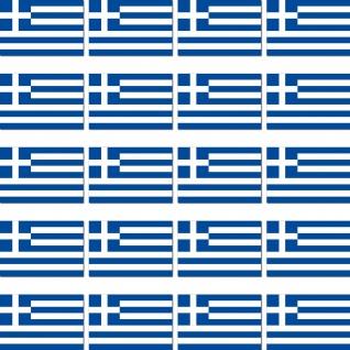20 Aufkleber 2cm Griechenland GR Länder Fahne Flagge Mini Sticker RC Modellbau