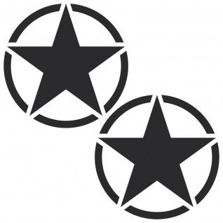 2 Aufkleber matt schwarz 10cm USA US Sterne Auto Tattoo Deko Folie Autoaufkleber
