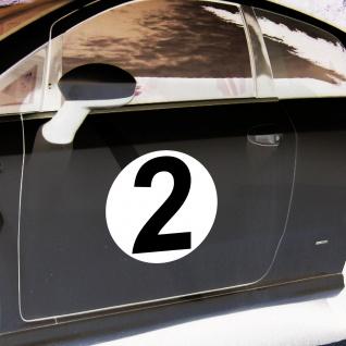 2 Aufkleber 20cm Sticker Start Nummer 2 Ziffer Zahl Racing Auto Motor Sport Kart