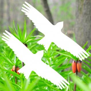 Warnvögel 25cm weiß Milan Vögel Warnvogel Aufkleber Vogel Fenster Glas Schutz