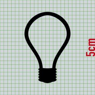 2 Sets Aufkleber 5cm Sw Tattoo Tür Taster Schalter Lampe Licht Klingel Symbole
