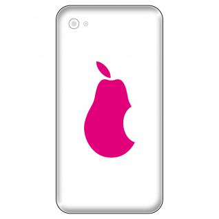 6 Aufkleber 5cm pink Birne Apple verarsche Handy Smartphone Tattoo Deko Folie