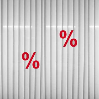 2 Aufkleber % 20cm rot Prozent Zeichen Schaufenster Rabatt Verkauf Deko Folie
