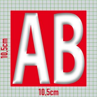 2 Aufkleber je 10cm AB + 1€ Sticker Zeichen Rabatt Preis Aktion Hinweis auf SALE - Vorschau 3