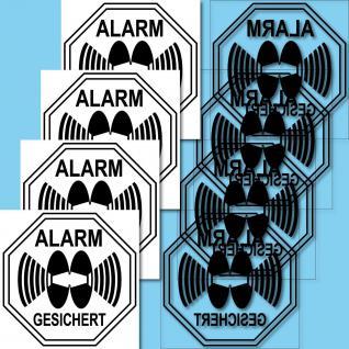 8 Auto Haus Tür Fenster Scheibe Alarm gesichert Aufkleber Sticker Alarmaufkleber