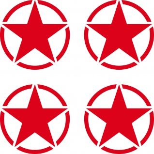 4 Aufkleber 5cm Tattoo rot USA US Sterne Auto Jeep Pkw Deko Folie Autoaufkleber