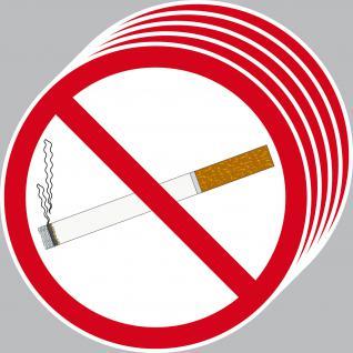 5 Aufkleber 15cm Sticker Rauchen Verboten Nichtraucher Rauchverbot Hinweisschild