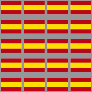 20 Aufkleber 3cm Spanien ESP Länder Fahne Flagge RC Modellbau Deko Mini Sticker