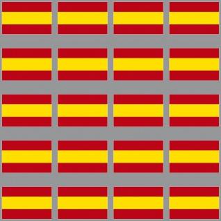 20 Aufkleber 3cm Spanien Modellbau Ministicker Länder Flagge Fahne 4061963009048