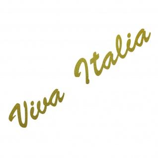 20cm gold Viva Italia Schriftzug Aufkleber Tattoo Auto Tür Fenster Deko Folie