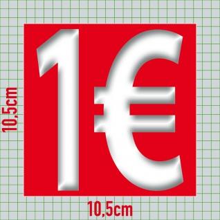 2 Aufkleber je 10cm AB + 1€ Sticker Zeichen Rabatt Preis Aktion Hinweis auf SALE - Vorschau 2