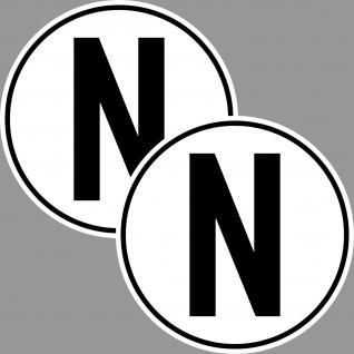 2 Aufkleber Sticker N für Neutral Stellung Getriebe Auto Rennsport Racing Kart