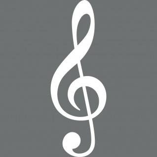 Violinschlüssel 40cm weiß Notenschlüssel Auto Wand Tür Fenster Aufkleber Tattoo