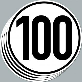 4 Aufkleber Sticker 100 kmh km/h 20cm Geschwindigkeit Auto Bus Pkw TÜV DIN1451