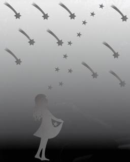 silber Sterntaler 20 Sterne 10 Schweif Sternfänger Christkind Aufkleber Folie