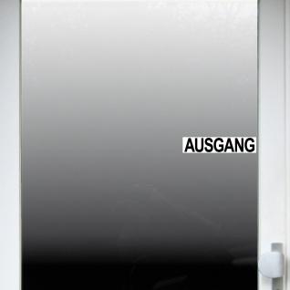 Set Aufkleber 20cm Eingang & Ausgang Sticker Hinweis für Tür Haustür Eingangstür - Vorschau 5