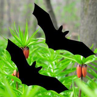 Fledermaus 20cm schwarz Vogel Vögel Warnvogel Warnvögel Aufkleber Fensterschutz