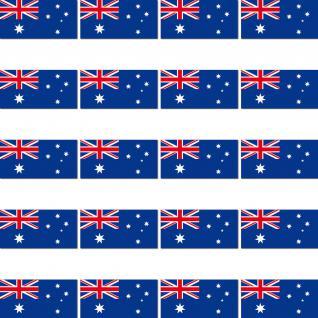 20 Stück AUS Australien Länder Fahne Flagge RC Modellbau Mini Aufkleber Sticker