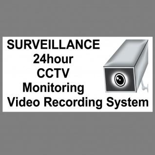 10 Aufkleber 20cm auf englisch Warn Hinweis 24 Stunden Video Kamera Überwacht