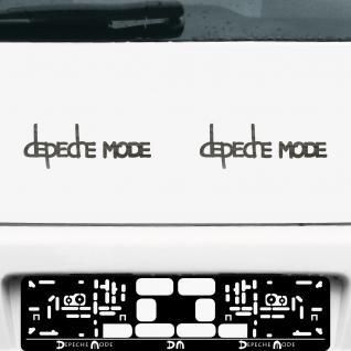 2 Aufkleber Tattoo 20cm chrom Exciter Depeche Mode Auto Tür Fenster Deko Folie
