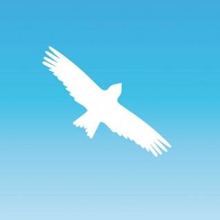 Warnvogel Aufkleber 20cm weiß Milan Vogel Schreck Fenster Schutz Deko Folie