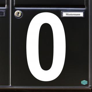 Ziffer 0 weiß 18cm Aufkleber Tattoo Nummer Zahl Hausnummer Haus Tür Briefkasten - Vorschau 3