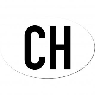 Aufkleber Sticker CH swiss Schweiz Auto Pkw Kfz Länderkennzeichen Land Zeichen o