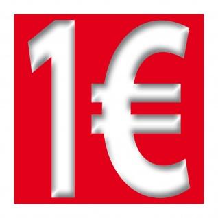 1€ Aufkleber 10cm Sticker 1 Euro Zeichen Symbol Rabatt Preis Aktion Hinweis Sale - Vorschau 3