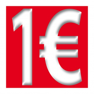 1€ Aufkleber 10cm Sticker 1Euro Zeichen Symbol Rabatt Preis Aktion 4061963007471 - Vorschau 3