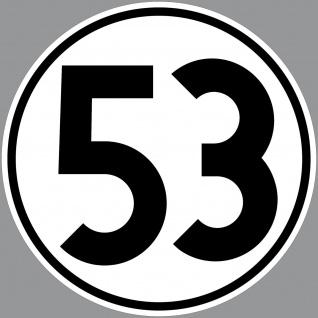 Aufkleber 20cm Sticker Nr Herbie 53 Startnummer Zahl Ziffer Deko Auto Käfer