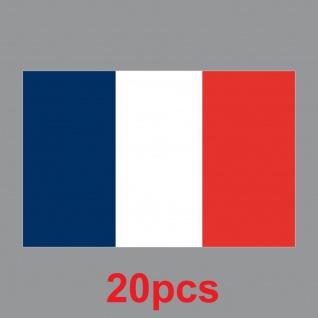 20 Aufkleber 8, 5cm Sticker FRA Frankreich EM WM Fußball National Flaggen Fahnen - Vorschau 2