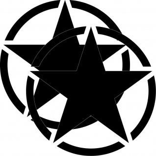 2 Aufkleber 30cm Tattoo schwarz USA US Stern Auto Jeep Deko Folie Autoaufkleber