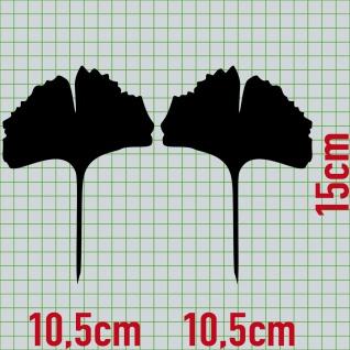 1 Paar 2 Blätter 15cm schwarz voll Ginkgo Blatt Aufkleber Tattoo Ginko Gingko - Vorschau 2