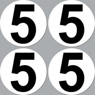 4 Aufkleber 15cm Start Nummer 5 Ziffer Zahl Auto Rennsport Racing Kart Gokart