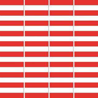 20 Stück Österreich Länder Flagge Fahne RC Modellbau Mini Aufkleber Sticker