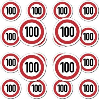 10 Aufkleber 1, 5cm Mini Sticker 100kmh 100 km/h Schild Modellbau 4061963009574 - Vorschau